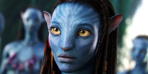 Primo piano di Neytiri in Avatar (2009)