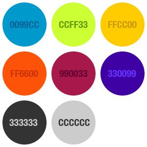 8 colori diversi