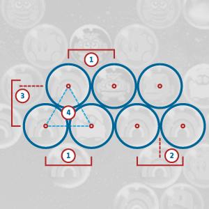 Studio della distanza tra le bolle nel gioco Puzzle Bobble