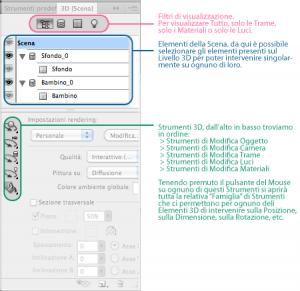 Palette 3D di Photoshop CS5 Extended