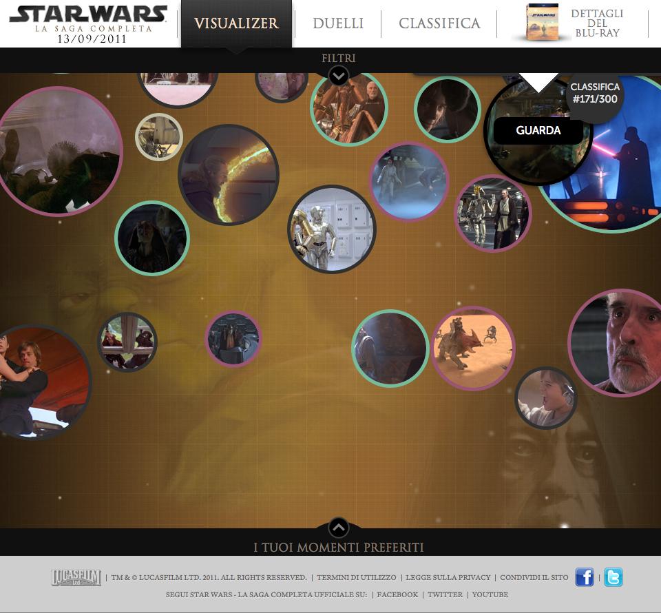 Il sito di lancio per l'esalogia di Star Wars in Blu-ray