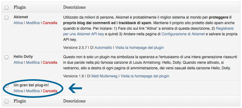 Un Gran Bel Plug-In in WordPress