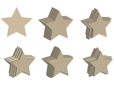Esempi di smussi disponibili in Illustrator