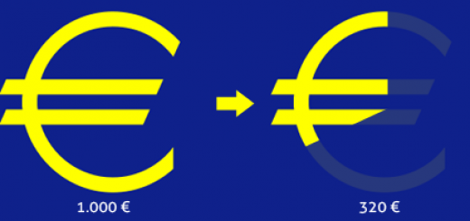 1000 euri diventano 320 euri