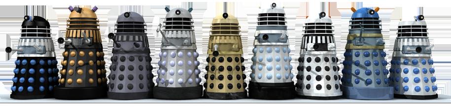 Diverse versioni dei Dalek (da www.dalek6388.co.uk/)