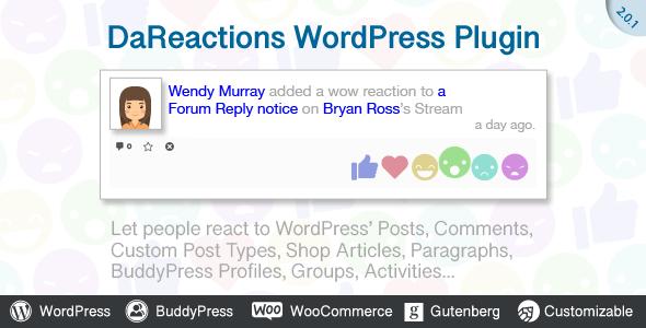 DaReactions si integra perfettamente in BuddyPress