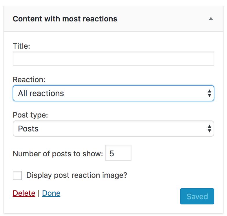 Widget per contenuti con più reazioni